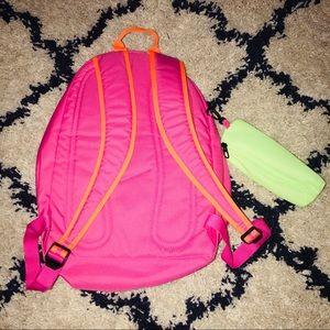 Nike Neon Bright Pink Orange Back Pack Book Bag